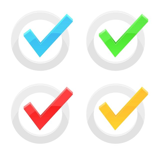 Ilustração de marca de verificação isoalted em fundo branco Vetor Premium