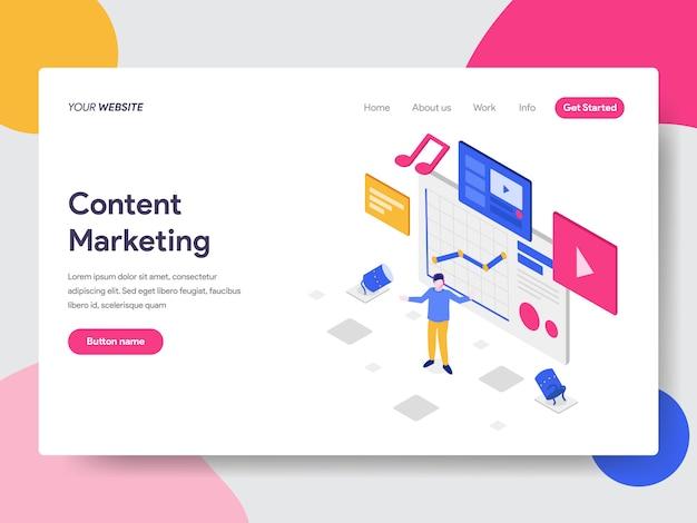 Ilustração de marketing de conteúdo Vetor Premium