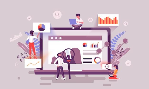 Ilustração de marketing digital Vetor Premium
