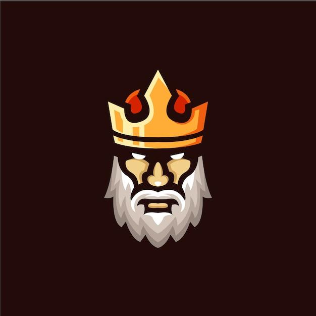 Ilustração de mascote de logotipo de rei Vetor Premium