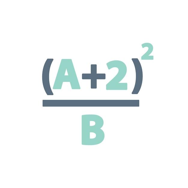 Ilustração, de, matemática, fórmula Vetor grátis