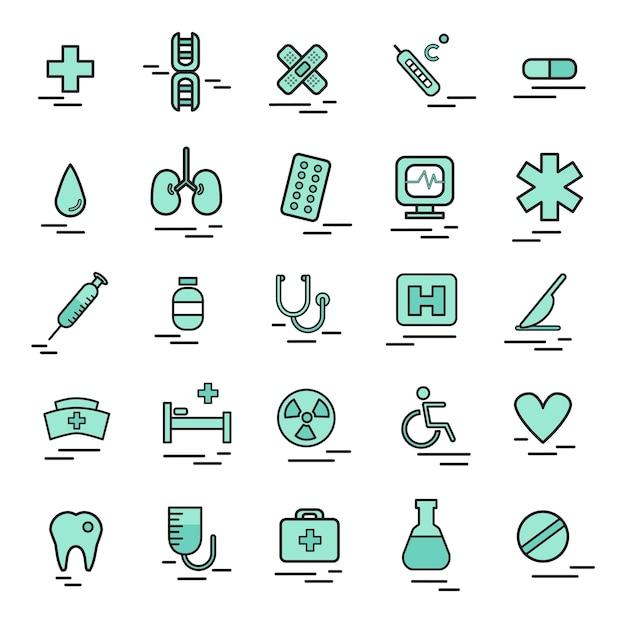 Ilustração, de, médico, ícone Vetor grátis