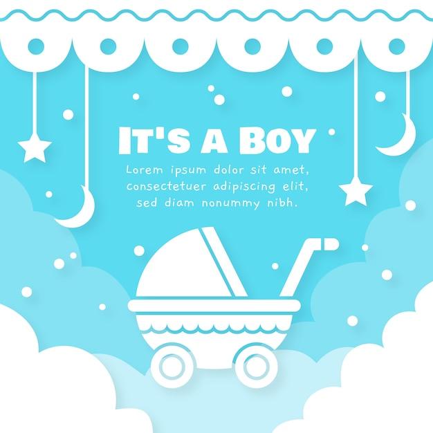 Ilustração de menino bebê chuveiro Vetor grátis