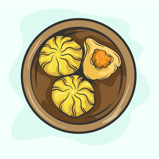Ilustração de modak desenhada à mão Vetor grátis