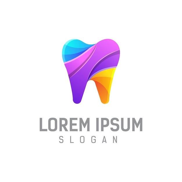 Ilustração de modelo de design de logotipo dental Vetor Premium