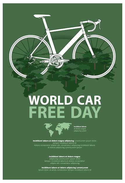 Ilustração de modelo de publicidade de cartaz do dia mundial do carro grátis Vetor Premium