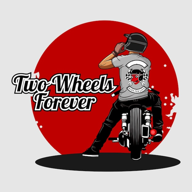 Ilustração de motoqueiros Vetor Premium