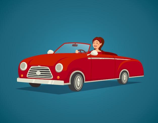 Ilustração de motorista de mulher Vetor grátis
