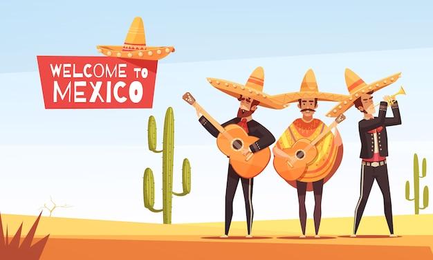 Ilustração de músicos mexicanos Vetor grátis