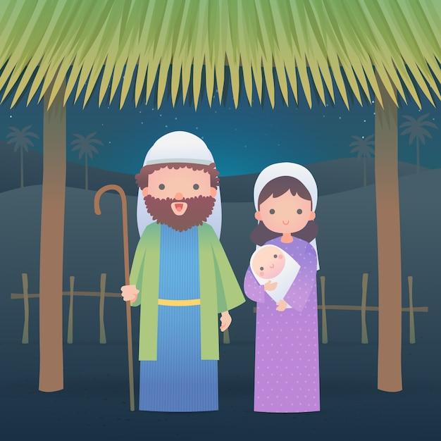 Ilustração de natal natividade em design plano Vetor grátis