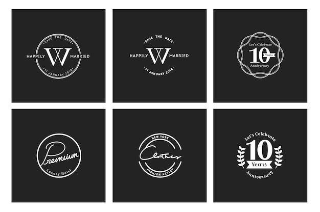 Ilustração, de, negócio, loja, logotipo, selo, bandeira Vetor grátis