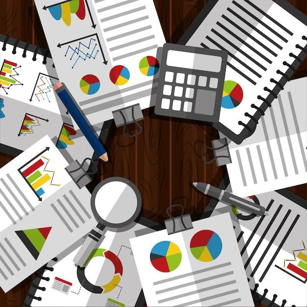 Ilustração de negócios de dados estatísticos Vetor grátis