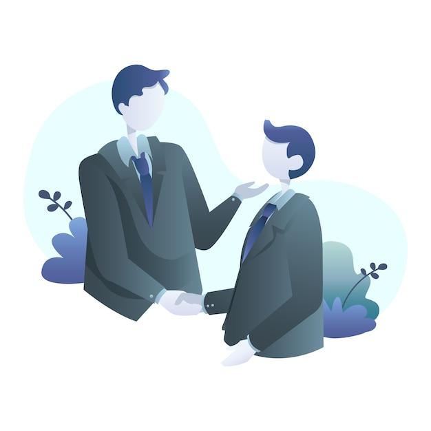 Ilustração de negócios Vetor Premium