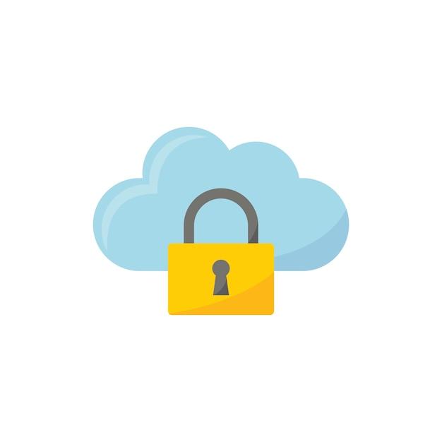 Ilustração, de, nuvem, segurança, ícone Vetor grátis