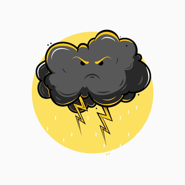 Ilustração de nuvens de tempestade Vetor Premium