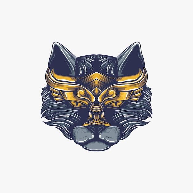 Ilustração de obras de arte de gato Vetor Premium