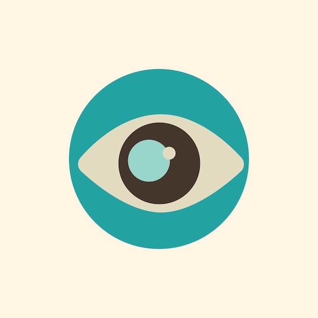 Ilustração, de, olho, ícone Vetor grátis