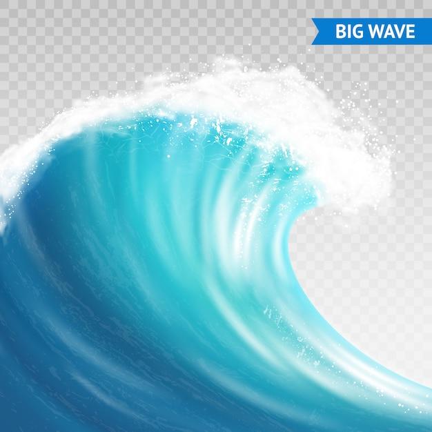 Ilustração de onda grande Vetor grátis