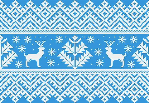 Ilustração de ornamento folk padrão sem emenda Vetor grátis