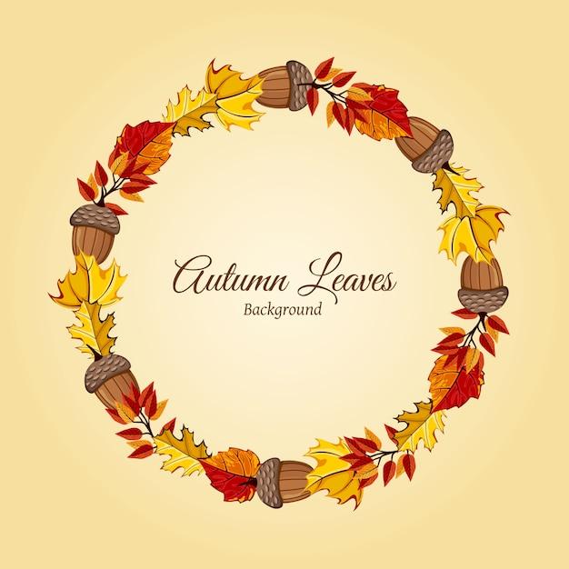 Ilustração de outono Vetor Premium