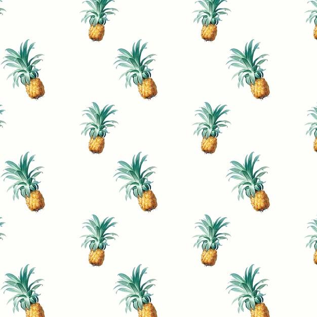 Ilustração de padrão de abacaxi Vetor grátis