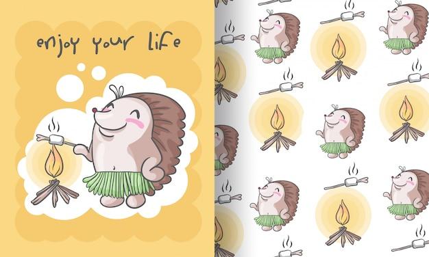 Ilustracao De Padrao Sem Emenda Tribal Bonito Ourico Para Criancas