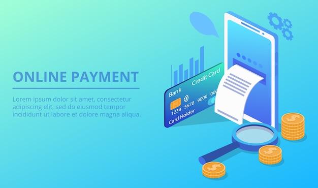 Ilustração de pagamento de smartphone on-line Vetor grátis