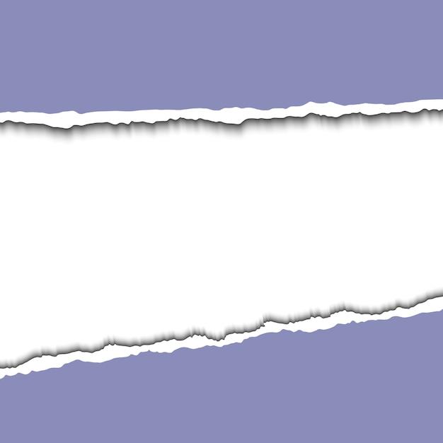 Ilustração de papel rasgado isolada no branco Vetor Premium