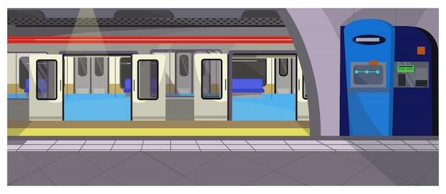 Ilustração de parada subterrânea Vetor grátis