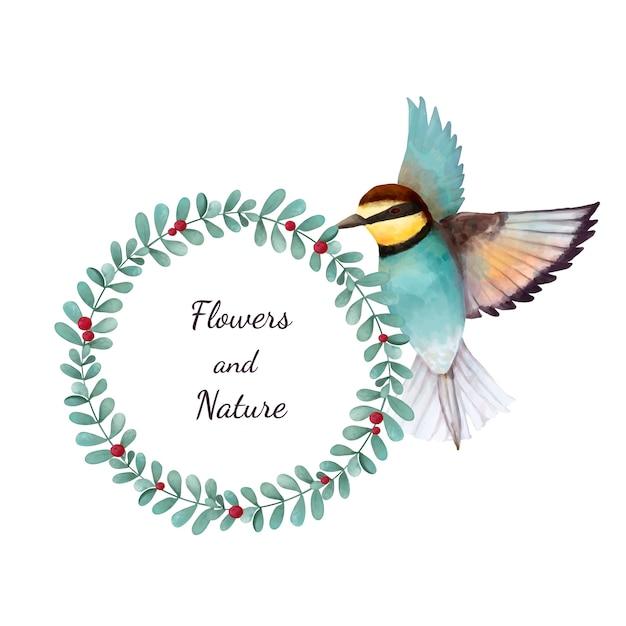 Ilustração de pássaro comedor de abelha, isolado no fundo branco Vetor grátis