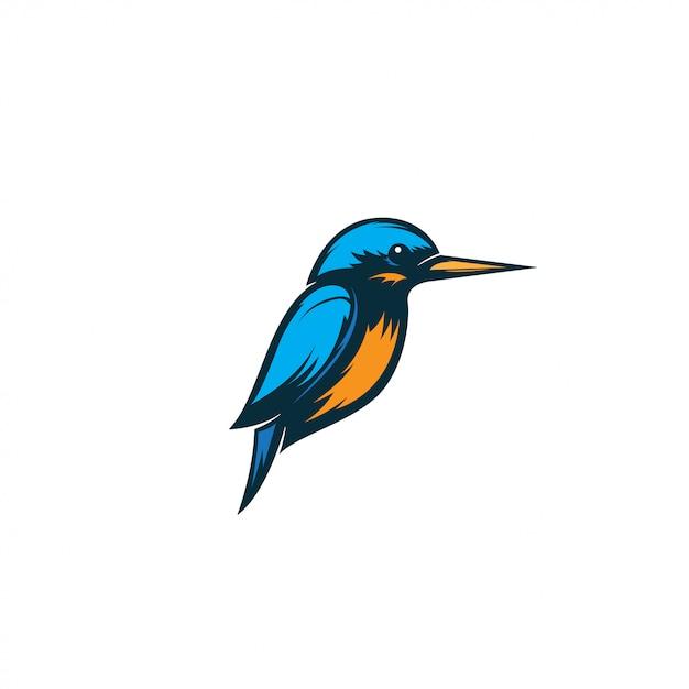 Ilustração de pássaro martim-pescador Vetor Premium