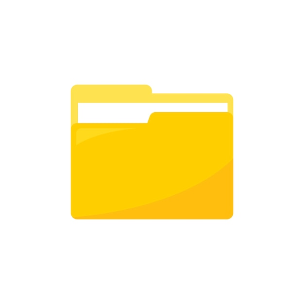 Ilustração, de, pasta dados, ícone Vetor grátis