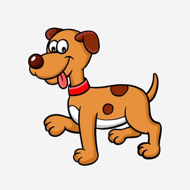 ilustração de personagem de desenho animado de cachorro animal