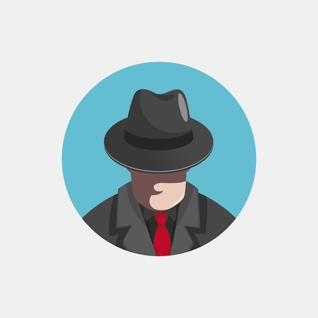 Ilustração de personagem misteriosa gangster Vetor grátis