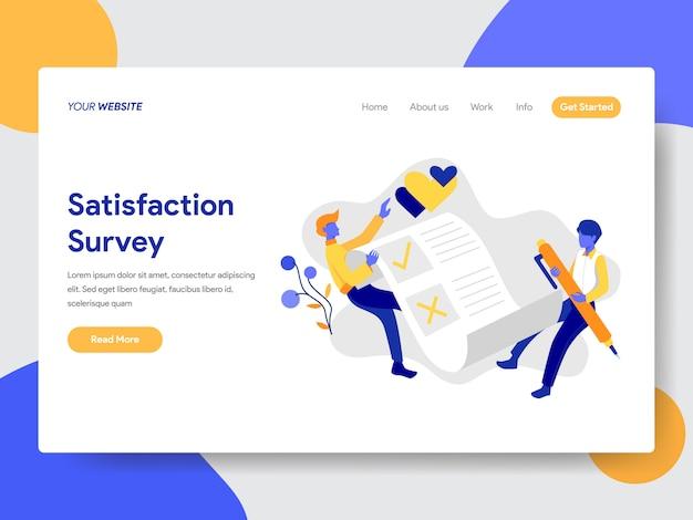 Ilustração de pesquisa de satisfação para a página da web Vetor Premium