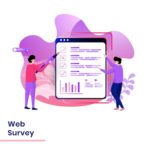 Ilustração de pesquisa na web da página de destino Vetor Premium