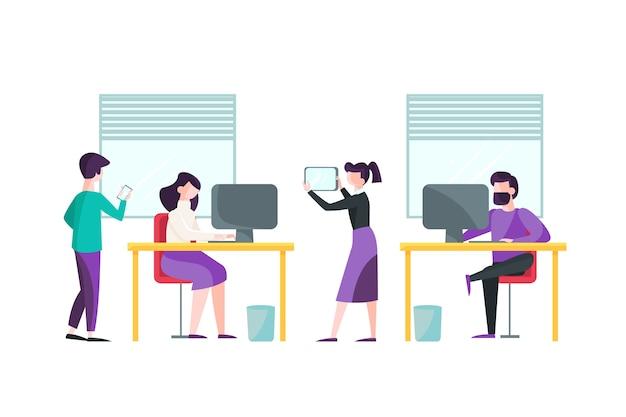 Ilustração de pessoas de negócios Vetor grátis