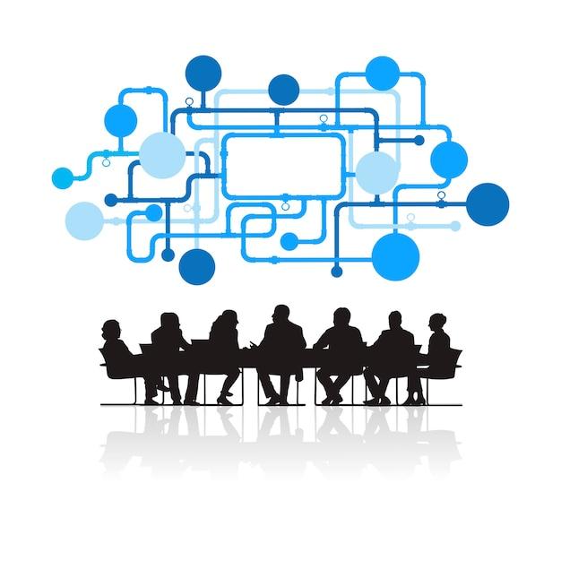 Ilustração, de, pessoas negócio, em, a, reunião Vetor grátis