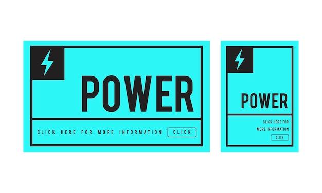 Ilustração, de, poder, conceito Vetor grátis