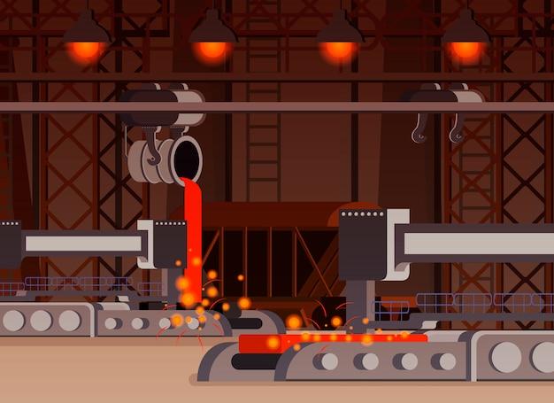 Ilustração de produção de aço Vetor grátis
