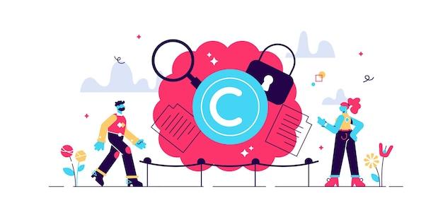 Ilustração de propriedade intelectual Vetor Premium