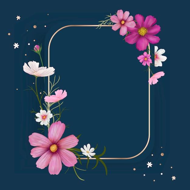 Ilustração de quadro de maquete floral Vetor grátis