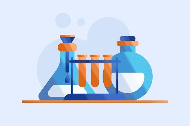 Ilustração de química Vetor Premium
