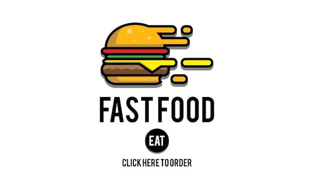 Ilustração, de, rapidamente, alimento Vetor grátis