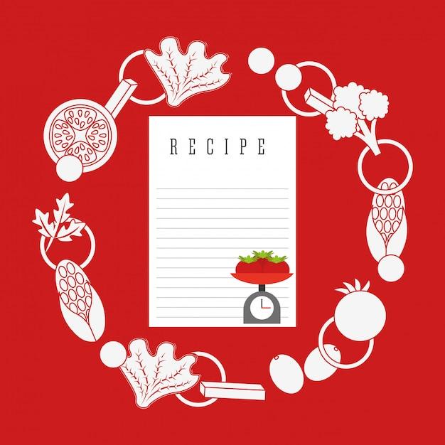 Ilustração de receita culinária Vetor grátis