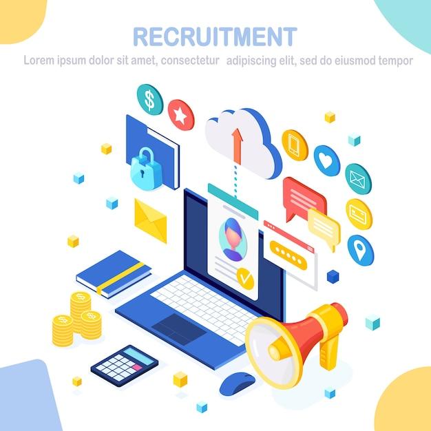 Ilustração de recrutamento Vetor Premium