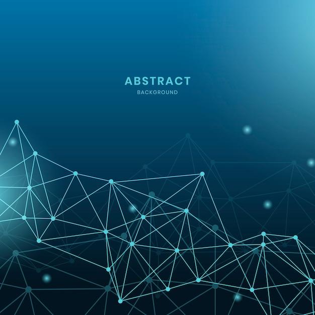 Ilustração de rede neural azul Vetor grátis