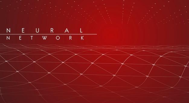 Ilustração de rede neural vermelha Vetor grátis