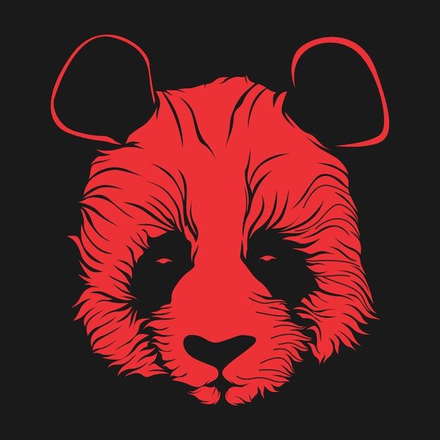 Ilustração de rosto de panda Vetor Premium