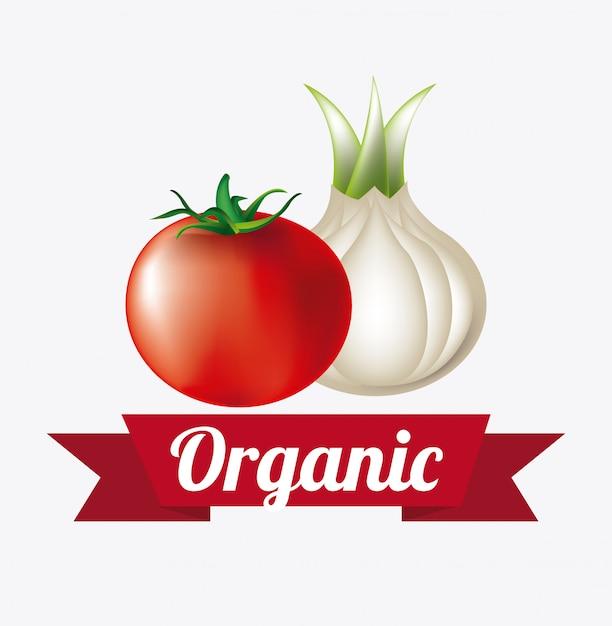 Ilustração de rótulo de alimentos orgânicos Vetor grátis